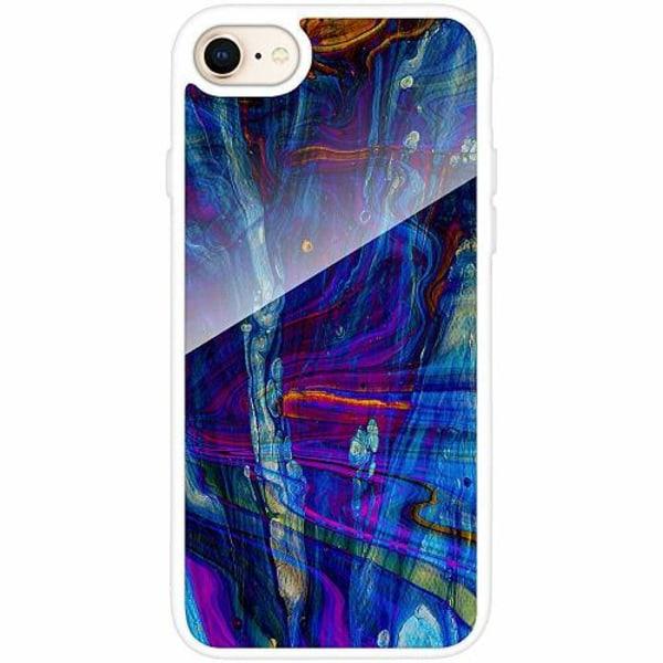 Apple iPhone 8 Vitt Mobilskal med Glas River Styx