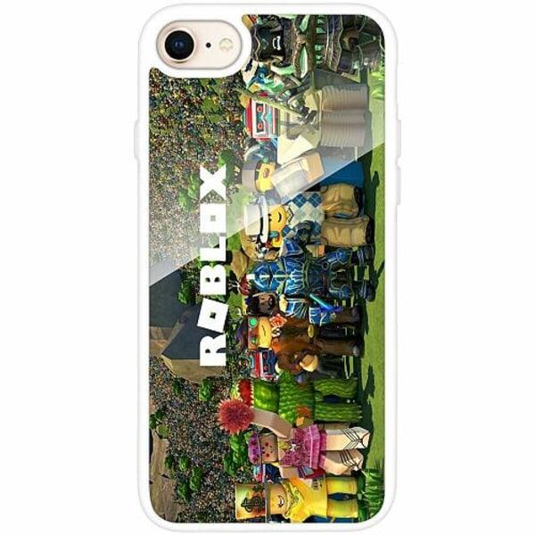 Apple iPhone 8 Vitt Mobilskal med Glas Roblox