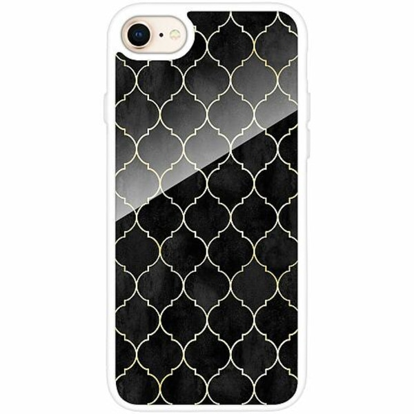 Apple iPhone 7 Vitt Mobilskal med Glas Soleil