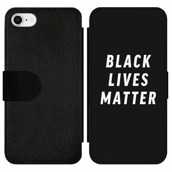 Apple iPhone 7 Wallet Slim Case Black Lives Matter