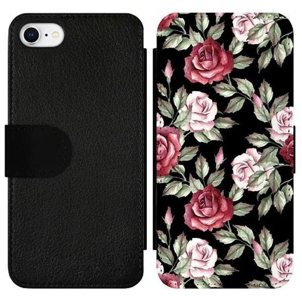 Apple iPhone 7 Wallet Slimcase Blommor