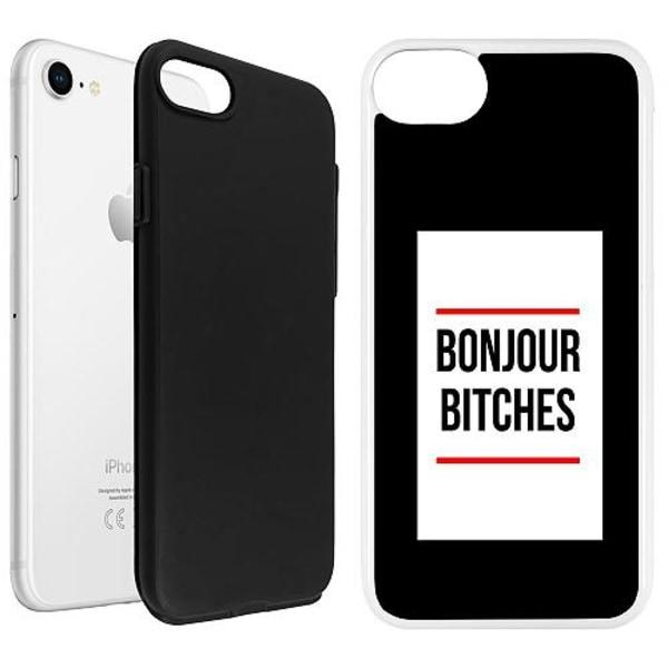 Apple iPhone SE (2020) Duo Case Vit Bonjour Bitches