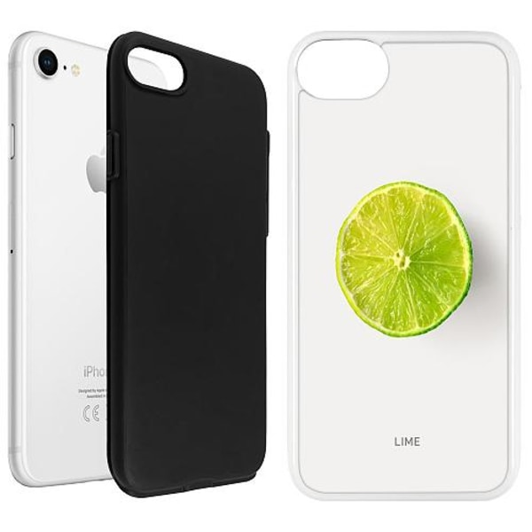 Apple iPhone SE (2020) Duo Case Vit Lime