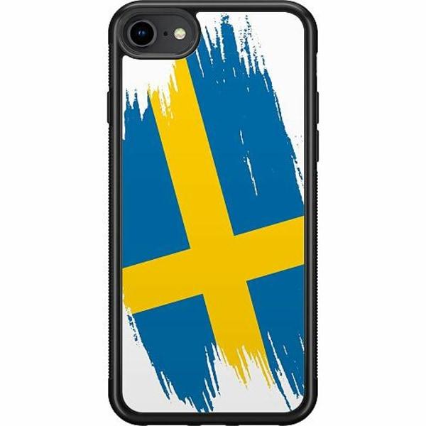 Apple iPhone SE (2020) Soft Case (Svart) Heja Sverige / Sweden