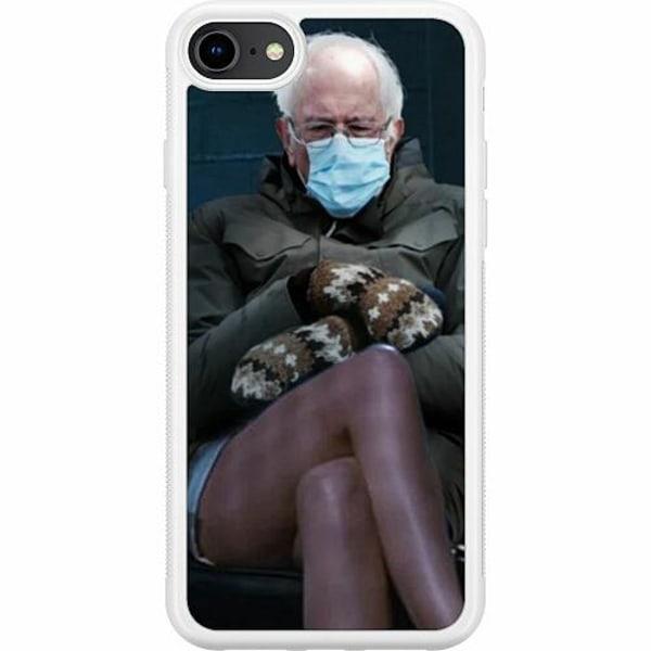 Apple iPhone 7 Soft Case (Vit) Bernie Sanders Meme