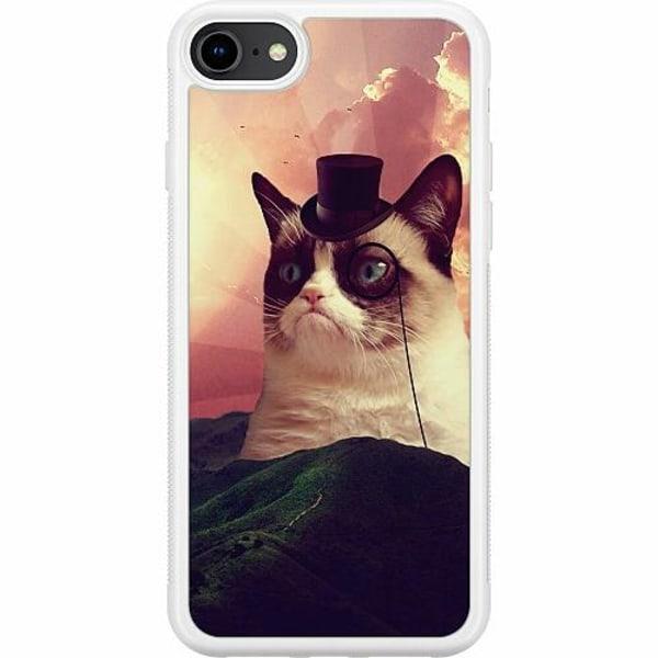 Apple iPhone 7 Soft Case (Vit) Cat Af Grund