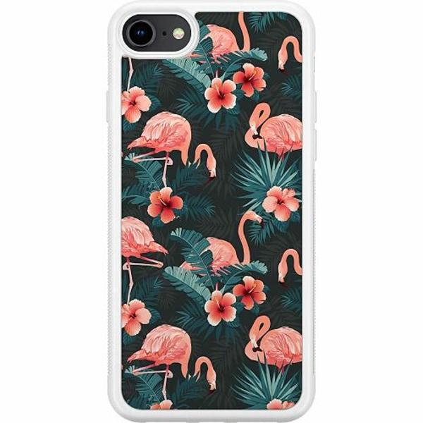 Apple iPhone 8 Soft Case (Vit) Flamingo