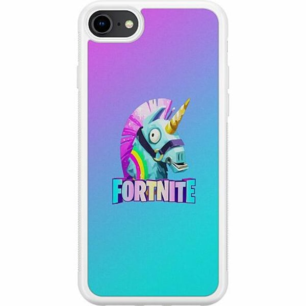 Apple iPhone 7 Soft Case (Vit) Fortnite Llama