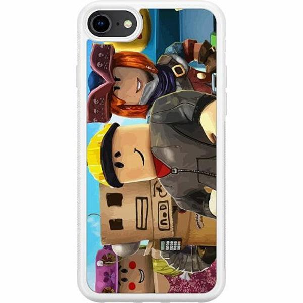 Apple iPhone 8 Soft Case (Vit) Roblox