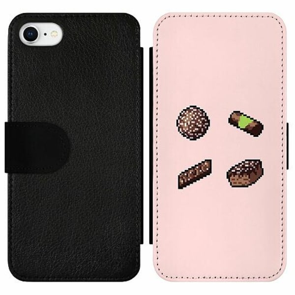 Apple iPhone 7 Wallet Slim Case FIKA pixel art