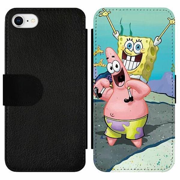 Apple iPhone 7 Wallet Slim Case SpongeBob Fyrkant