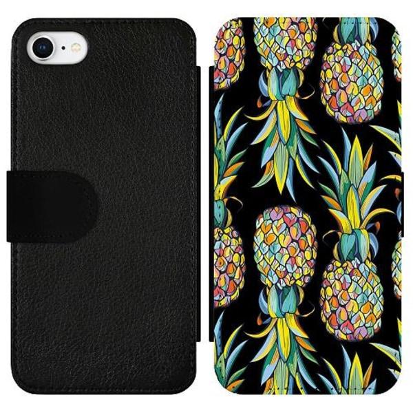 Apple iPhone 7 Wallet Slim Case Pendulous Pineapple