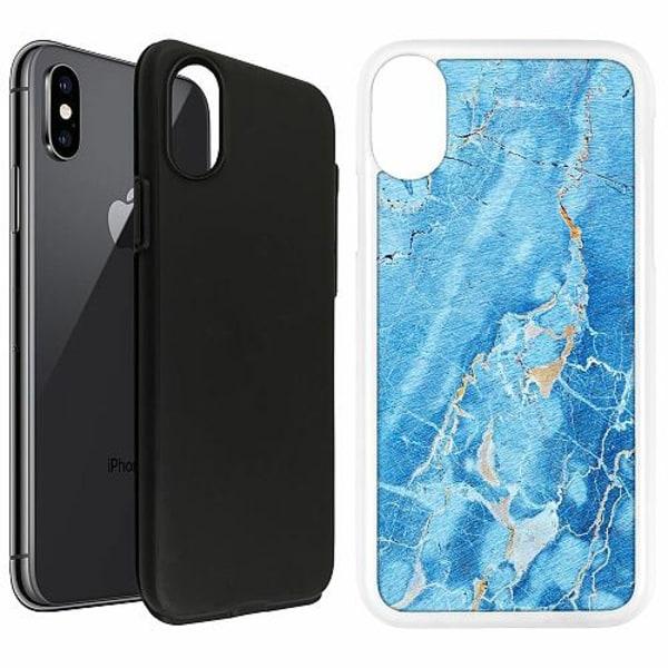Apple iPhone X / XS Duo Case Vit Marmor