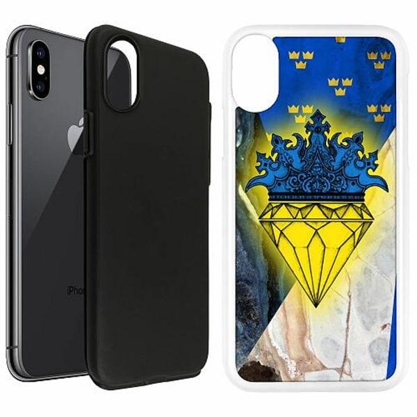 Apple iPhone X / XS Duo Case Vit Sverige