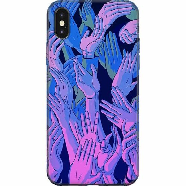 Apple iPhone X / XS Mjukt skal - Crowded Hands