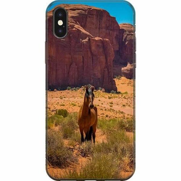 Apple iPhone X / XS Mjukt skal - Häst / Horse
