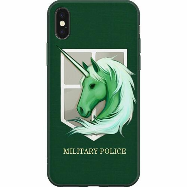 Apple iPhone X / XS Mjukt skal - Military Police