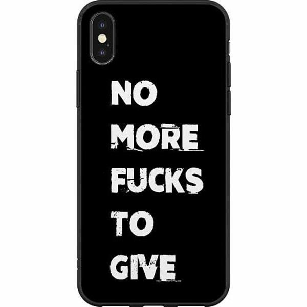 Apple iPhone X / XS Mjukt skal - NO MORE FUCKS