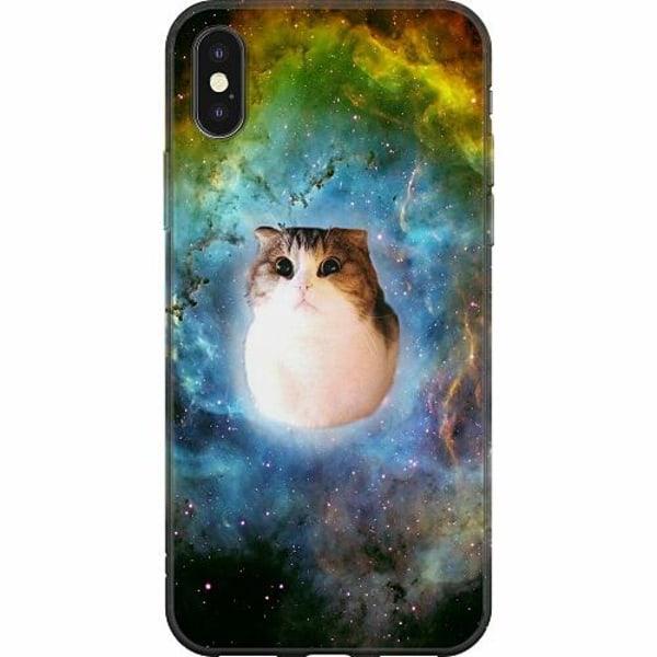 Apple iPhone X / XS Mjukt skal - Space Cat