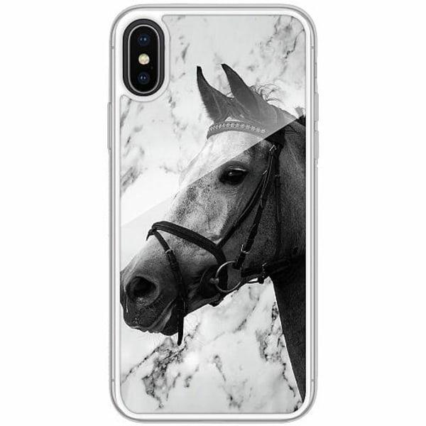 Apple iPhone X / XS Transparent Mobilskal med Glas Häst