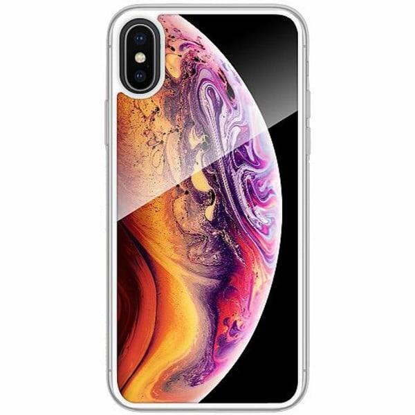 Apple iPhone X / XS Transparent Mobilskal med Glas Mönster