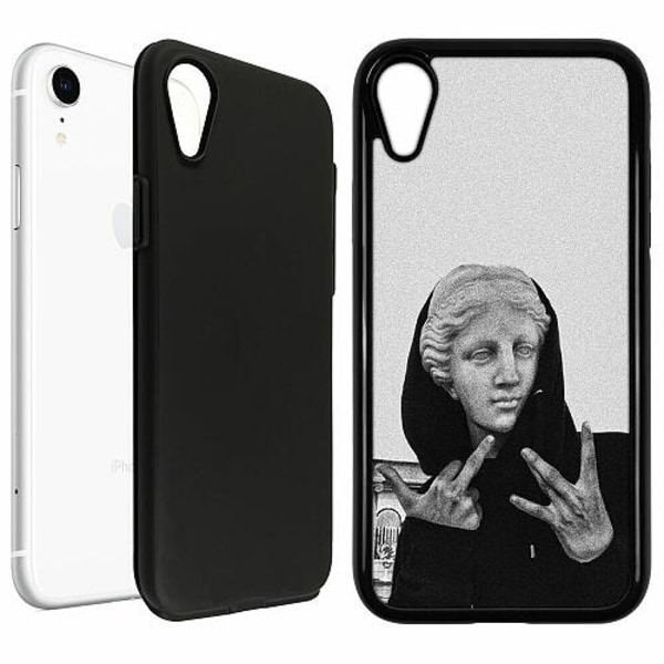 Apple iPhone XR Duo Case Svart Hello!