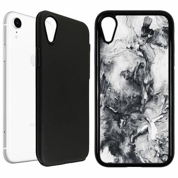 Apple iPhone XR Duo Case Svart Mönster