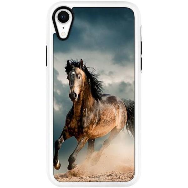 Apple iPhone XR Duo Case Vit Häst