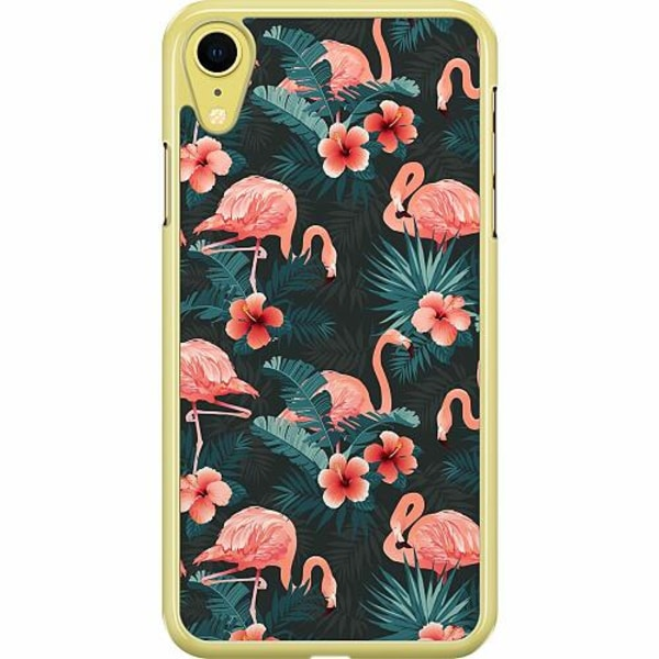 Apple iPhone XR Hard Case (Transparent) Flamingo