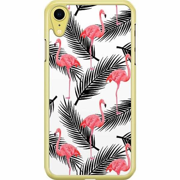 Apple iPhone XR Hard Case (Transparent) Flamingo