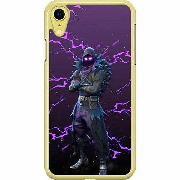 Apple iPhone XR Hard Case (Transparent) Raven Fortnite Thunder