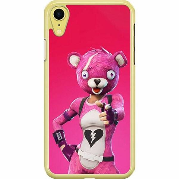 Apple iPhone XR Hard Case (Transparent) Fortnite Pink Bear