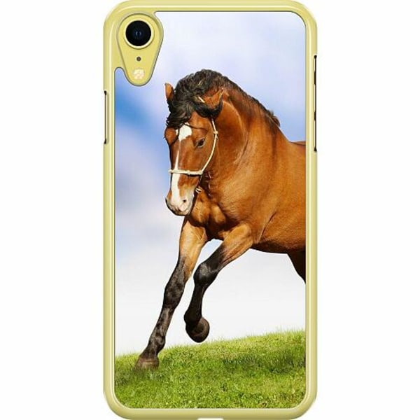 Apple iPhone XR Hard Case (Transparent) Horse