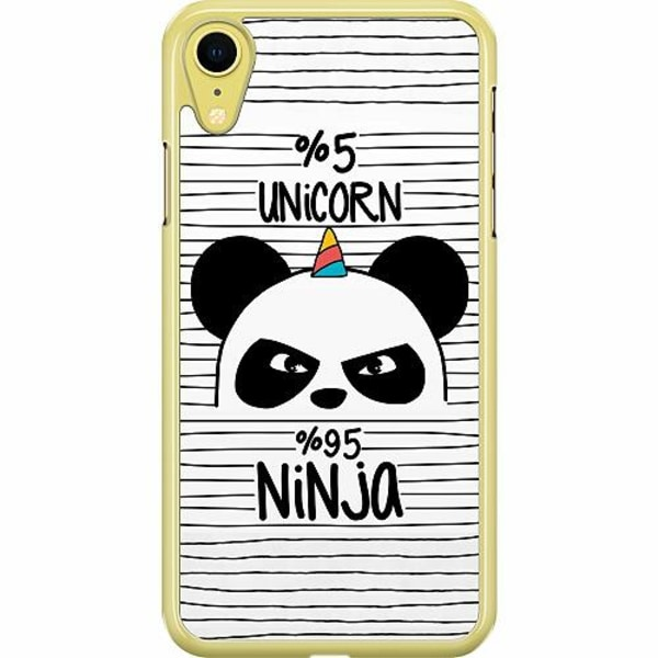 Apple iPhone XR Hard Case (Transparent) Panda