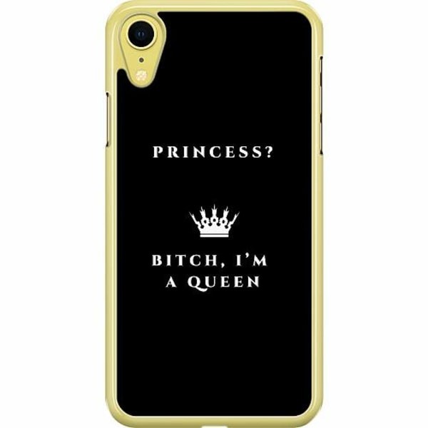 Apple iPhone XR Hard Case (Transparent) Queen