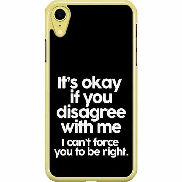 Apple iPhone XR Hard Case (Transparent) Text