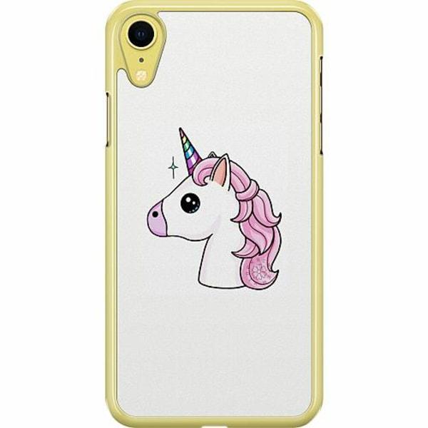 Apple iPhone XR Hard Case (Transparent) Unicorn