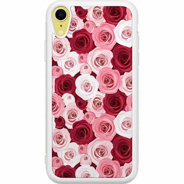 Apple iPhone XR Soft Case (Vit) Blommor