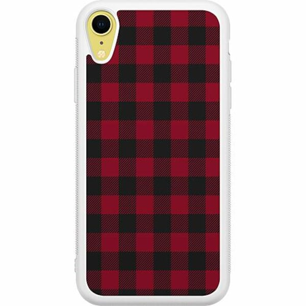 Apple iPhone XR Soft Case (Vit) Checkered Flannel