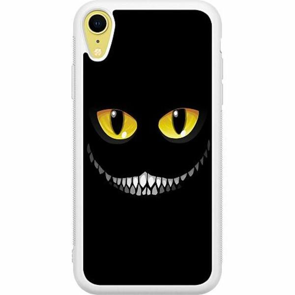 Apple iPhone XR Soft Case (Vit) Eyes In The Dark Black