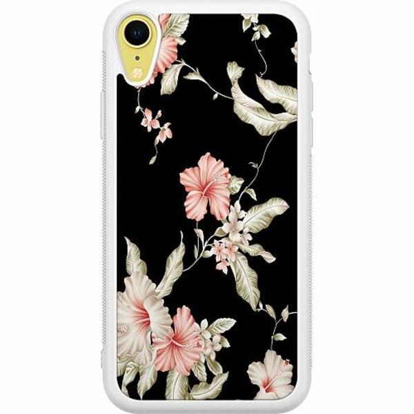 Apple iPhone XR Soft Case (Vit) Floral Pattern Black