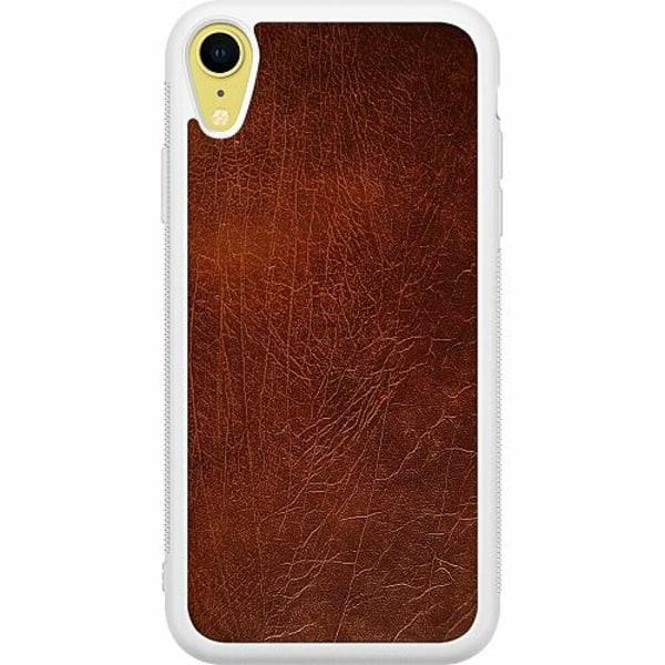 Apple iPhone XR Soft Case (Vit) Leather