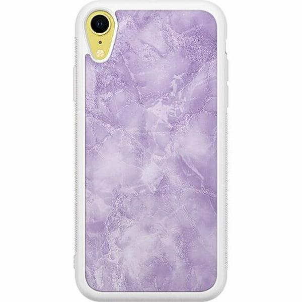 Apple iPhone XR Soft Case (Vit) Marmor