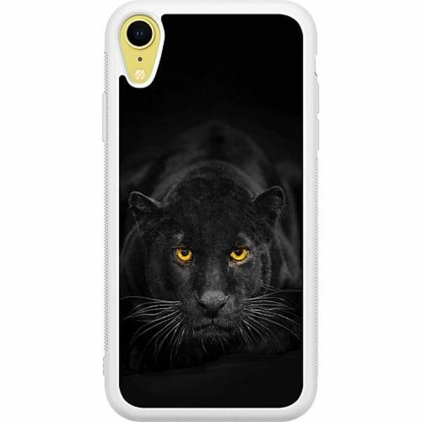 Apple iPhone XR Soft Case (Vit) Panther