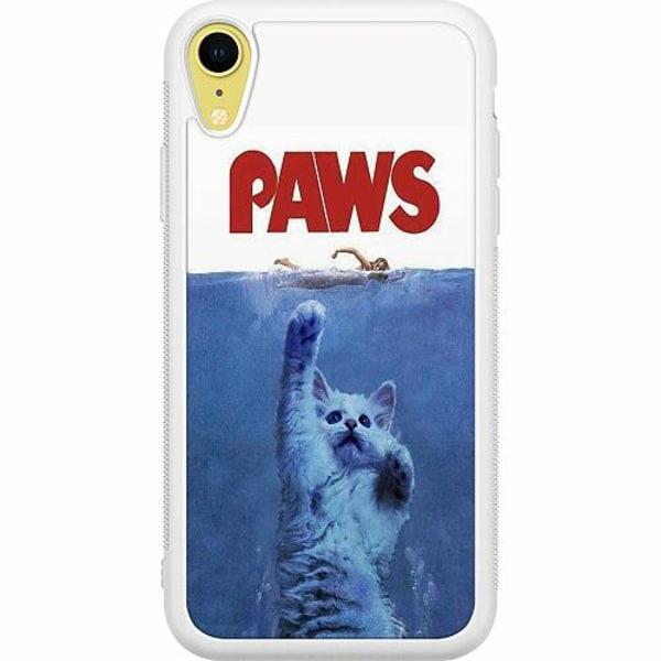 Apple iPhone XR Soft Case (Vit) Paws