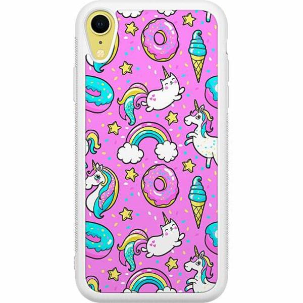 Apple iPhone XR Soft Case (Vit) Unicorn