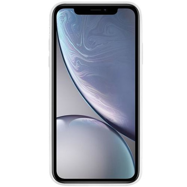 Apple iPhone XR Vitt Mobilskal med Glas Blommor
