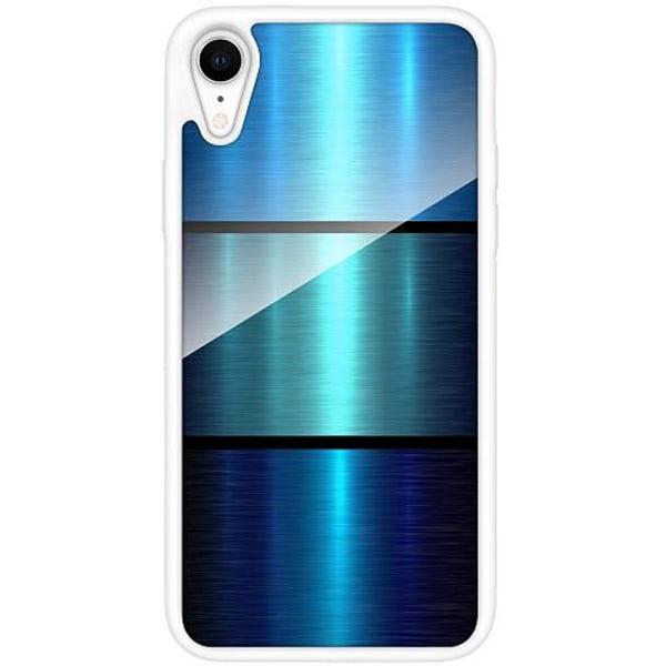 Apple iPhone XR Vitt Mobilskal med Glas Blå