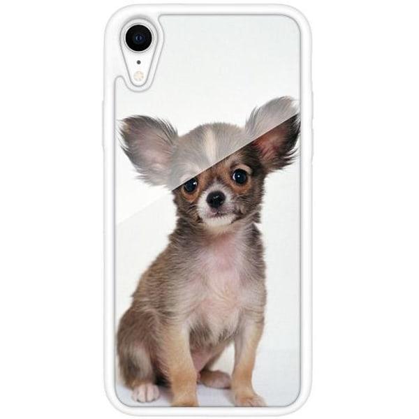 Apple iPhone XR Vitt Mobilskal med Glas Chihuahua