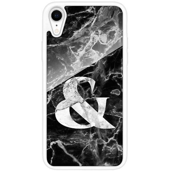 Apple iPhone XR Vitt Mobilskal med Glas Marmor